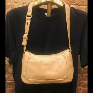 Etienne Aigner vegan leather shoulder bag.